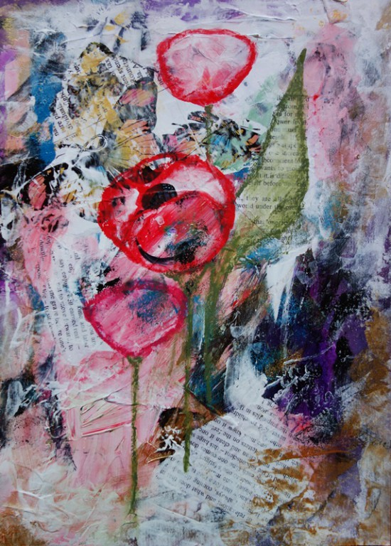 read me poppies 21x30cm