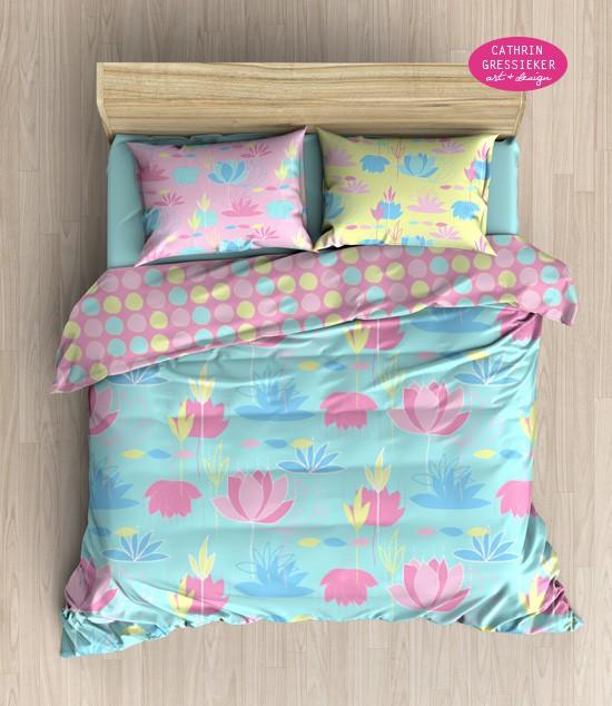 inspired lotus bedding