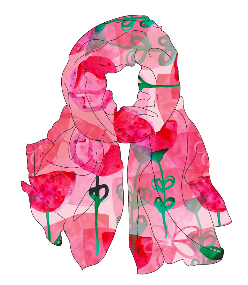 Cathrin-Gressieker_mocck-up_scarf_yupo-poppies
