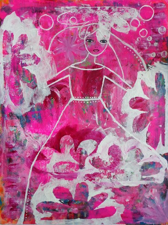 pink girl 36x48