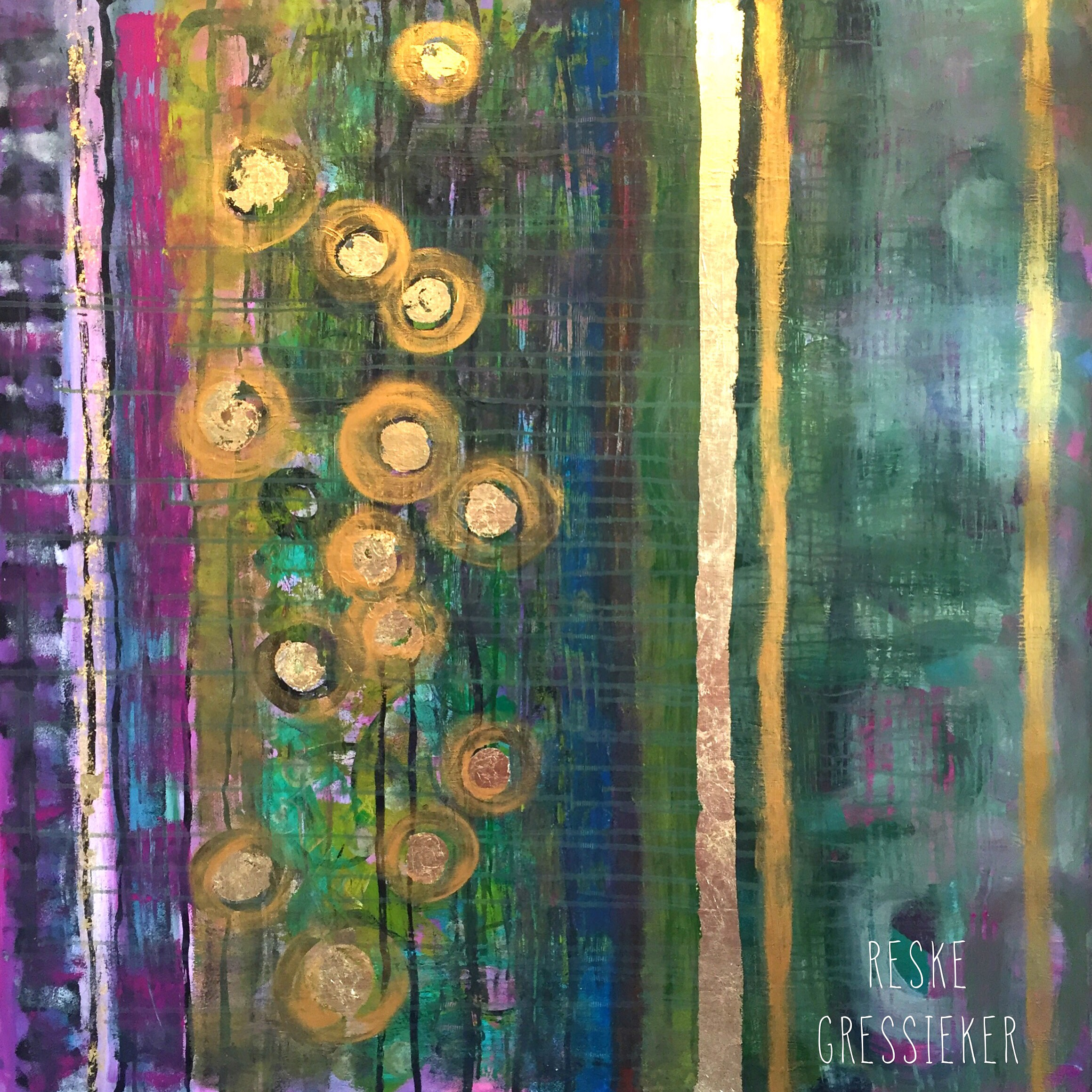 delights 100x100cm, collaboration with Doris Reske