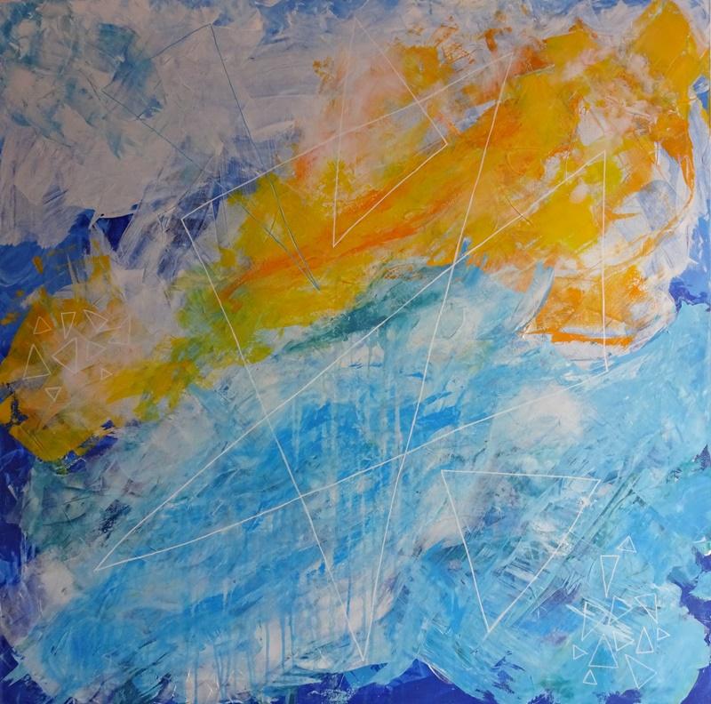 Solar Sailing, acrylic on canvas, 100x100cm