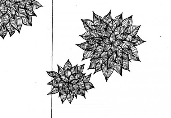 Cathrin Gressieker_sketchbook flowers