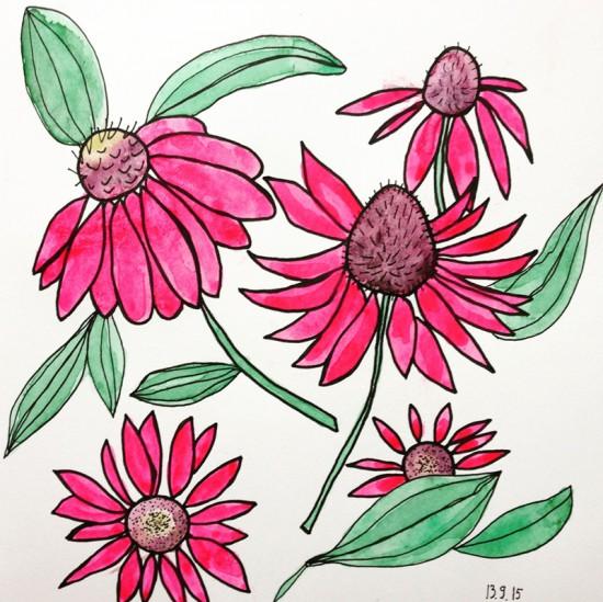 Cathrin Gressieker_pink yoga flowers-k