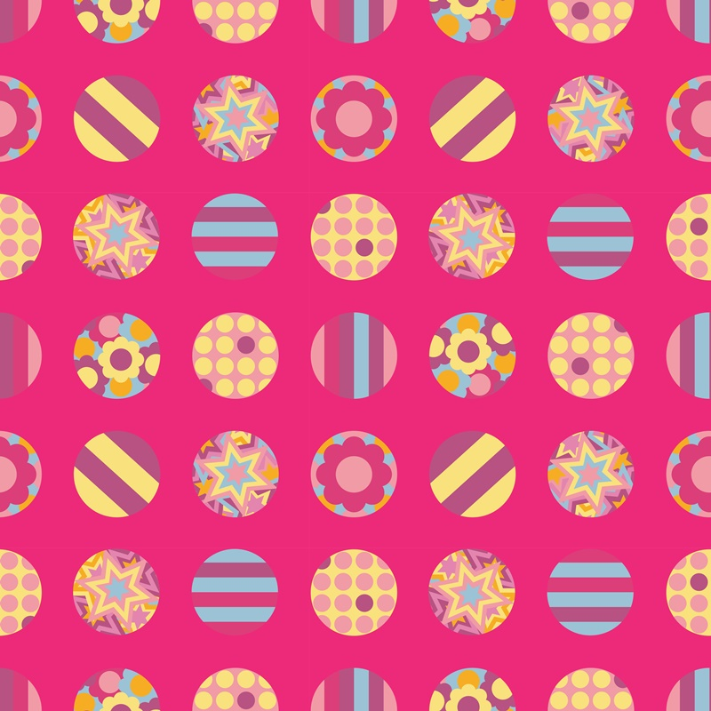 pink pop art circles