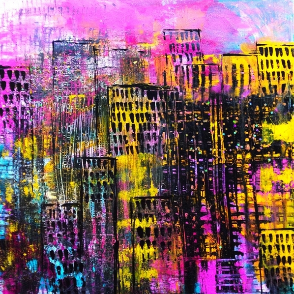 bangkok/chicago 40x40cm, collaboration with Doris Reske